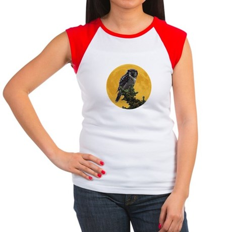 Owl and Moon Women's Cap Sleeve T-Shirt