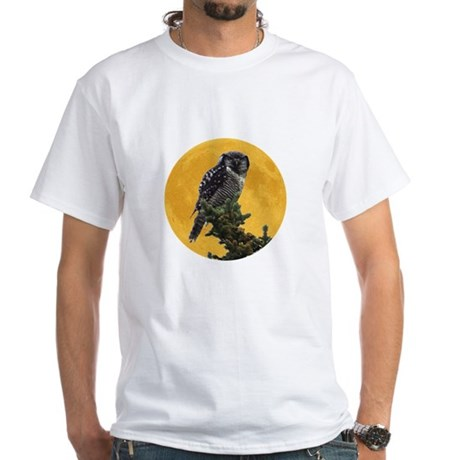 Owl and Moon White T-Shirt