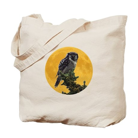Owl and Moon Tote Bag