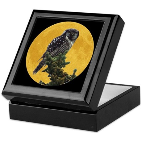 Owl and Moon Keepsake Box