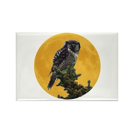 Owl and Moon Rectangle Magnet (100 pack)