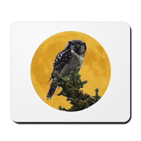 Owl and Moon Mousepad