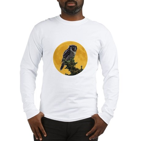 Owl and Moon Long Sleeve T-Shirt