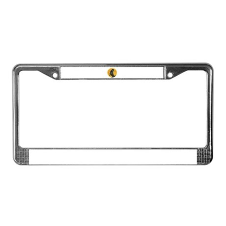 Owl and Moon License Plate Frame