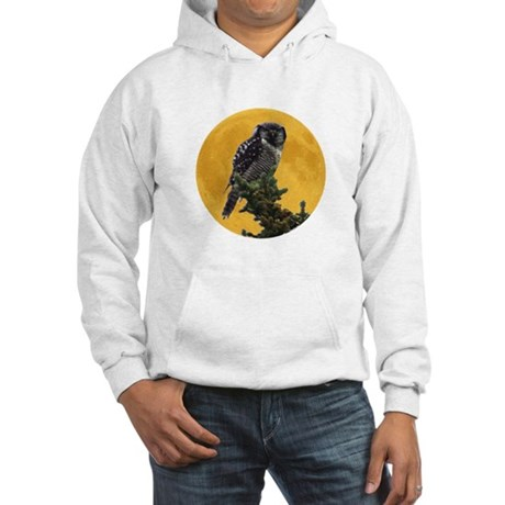 Owl and Moon Hooded Sweatshirt