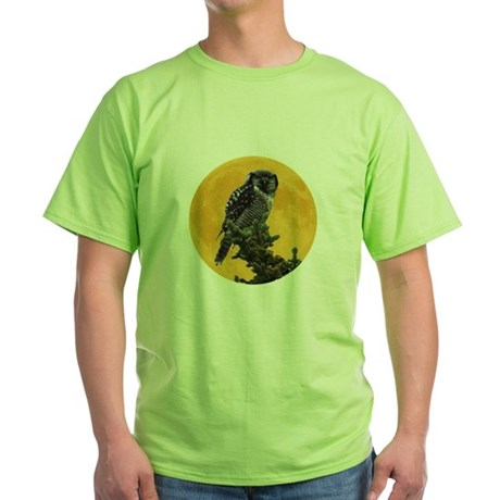 Owl and Moon Green T-Shirt