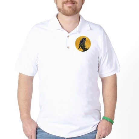 Owl and Moon Golf Shirt