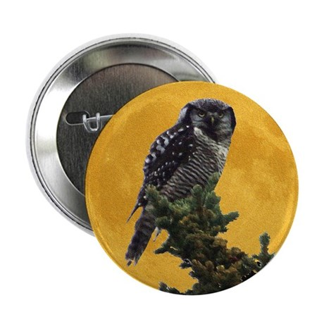 "Owl and Moon 2.25"" Button (10 pack)"