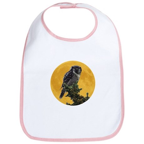 Owl and Moon Bib