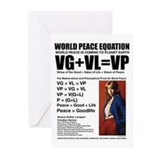 WORLD PEACE EQUATION Greeting Cards (Pk of 20)