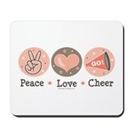 Peace Love Cheer Cheerleader Mousepad