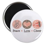 Peace Love Cheer Cheerleader Magnet