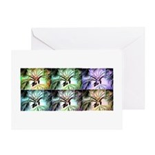 Palm Collage Blank Greeting Card