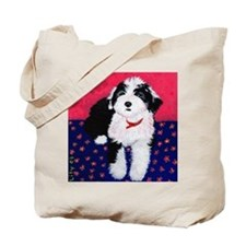 Old English Sheepdog Puppy ~ Tote Bag