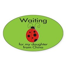 Waiting Parent Oval Decal