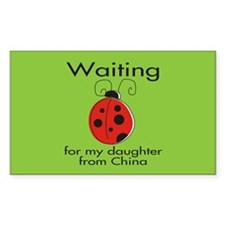 Waiting Parent Rectangle Decal