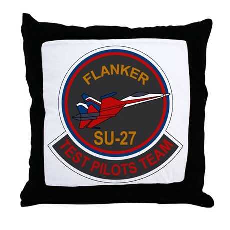 Su-30 Flanker Throw Pillow