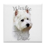 Westie Dad2 Tile Coaster