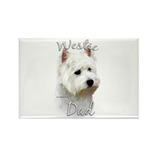 Westie Dad2 Rectangle Magnet