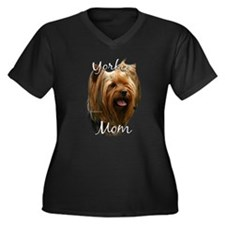 Yorkie Mom2 Women's Plus Size V-Neck Dark T-Shirt