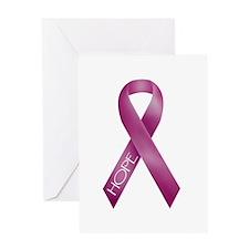 Bergundy Ribbon Greeting Card