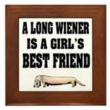 Wiener Friend Dachshund Framed Tile