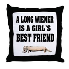 Wiener Friend Dachshund Throw Pillow