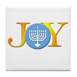 Joy Menorah Tile Coaster