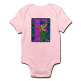 Cute Initial f Infant Bodysuit