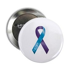 "Purple/Teal Ribbon 2.25"" Button (100 pack)"