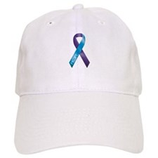 Purple/Teal Ribbon Baseball Cap