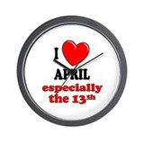 April 13th Wall Clock