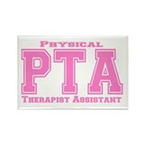 PTA Pink Rectangle Magnet