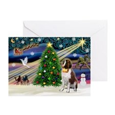 Xmas Magic & St Bernard Greeting Cards (Pk of
