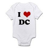 I Love DC Infant Bodysuit