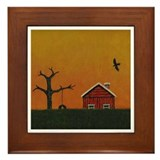 Amber Evening Framed Tile