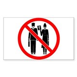No Preaching Rectangle Decal