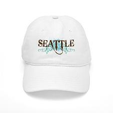 Seattle WA Grunge Baseball Cap