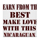 Nicaraguan Love Tile Coaster