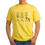 OMGWTFBBQ Yellow T-Shirt