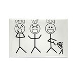 OMGWTFBBQ Rectangle Magnet (100 pack)