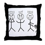 OMGWTFBBQ Throw Pillow