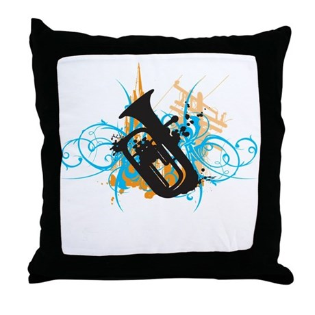 Urban Baritone Throw Pillow