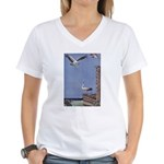 Storks Women's V-Neck T-Shirt