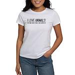 I Love Animals Women's T-Shirt