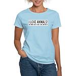 I Love Animals Women's Light T-Shirt