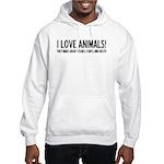 I Love Animals Hooded Sweatshirt
