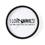 I Love Animals Wall Clock