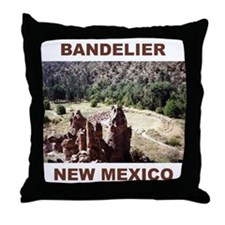 BANDELIER, NEW MEXICO Throw Pillow