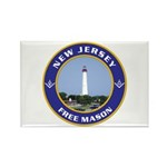 New Jersey Freemason Rectangle Magnet (100 pack)